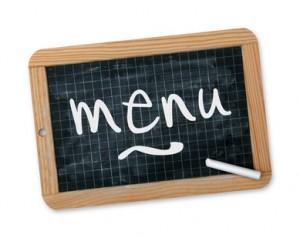 La cantine : les menus, infos diverses